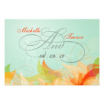 RSVP - Fancy Floral Wedding Response Cards Personalised Invite