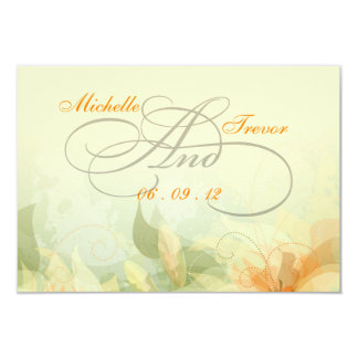 "RSVP - Fancy Floral Wedding Response Cards 3.5"" X 5"" Invitation Card"