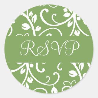 RSVP Floral Vine Envelope Sticker Seal