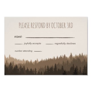 RSVP for a Rustic Wedding in the Mountains Card