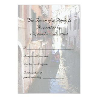 RSVP for Venetian Themed Wedding Card