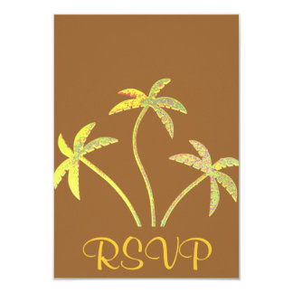 RSVP Invitation Reply Card Quinceanera Palms
