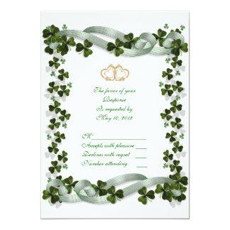 RSVP Irish Wedding response card 13 Cm X 18 Cm Invitation Card