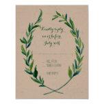 RSVP Laurel Wreath Olive Leaf Branch Modern Simple 11 Cm X 14 Cm Invitation Card