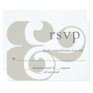 RSVP -  modern ampersand design Card