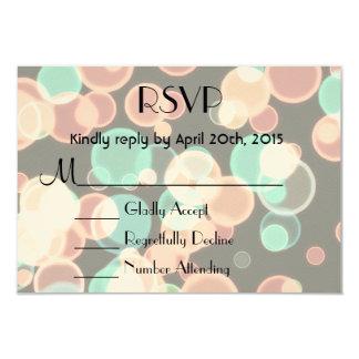 RSVP Multicolored Bubbles on a Black Background 9 Cm X 13 Cm Invitation Card