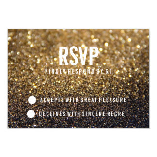 RSVP Party Invite | Gold Lit Nite Fab
