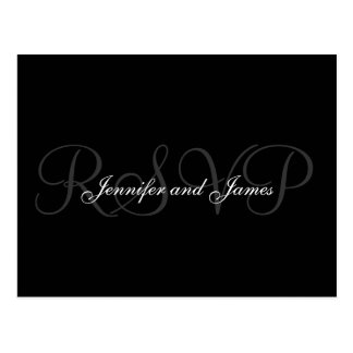 RSVP Postcard Wedding Monogram Names