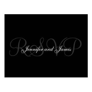 RSVP Postcard Wedding Monogram Names