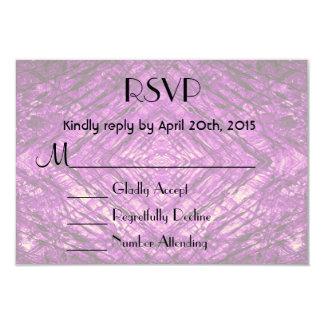 "RSVP Purple Stained Glass kaleidoscope Texture 3.5"" X 5"" Invitation Card"