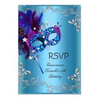RSVP Quinceanera 15th Birthday Party Masquerade 9 Cm X 13 Cm Invitation Card