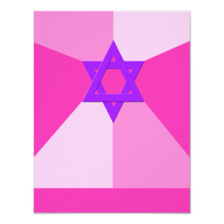 RSVP Reception Bat Mitzvah Invitation Pink