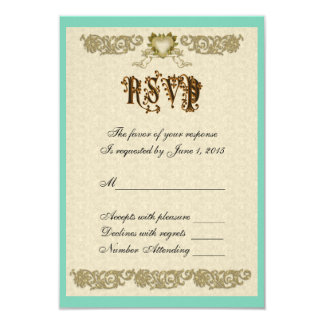 RSVP Renaissance cupids 9 Cm X 13 Cm Invitation Card