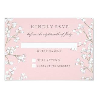 RSVP Response Baby's Breath Girl Baby Shower 9 Cm X 13 Cm Invitation Card