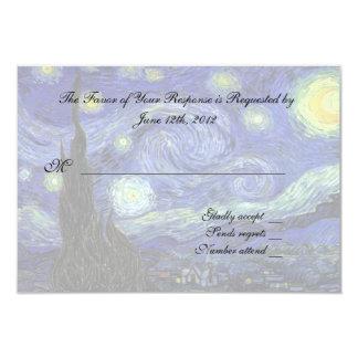 RSVP response card 9 Cm X 13 Cm Invitation Card