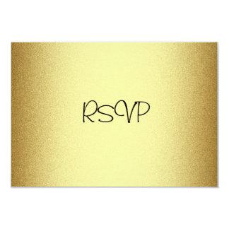 RSVP Response Card All Events Elegant Gold