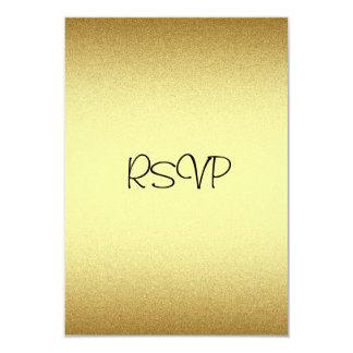 RSVP Response Card All Events Elegant Gold 9 Cm X 13 Cm Invitation Card
