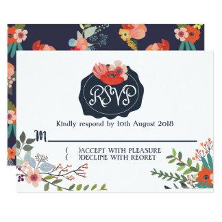 RSVP/Response Card - Floral Wedding Invitation