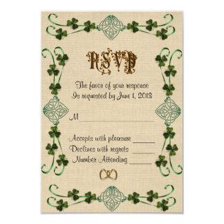 RSVP response card Irish Unity knot 9 Cm X 13 Cm Invitation Card