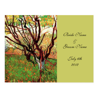 RSVP, response card, Orchard in Blossom Postcard