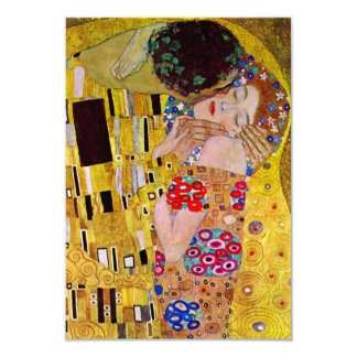 RSVP Response Card; The Kiss by Gustav Klimt 9 Cm X 13 Cm Invitation Card