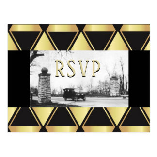 RSVP Roaring Twenties Art Deco Postcard