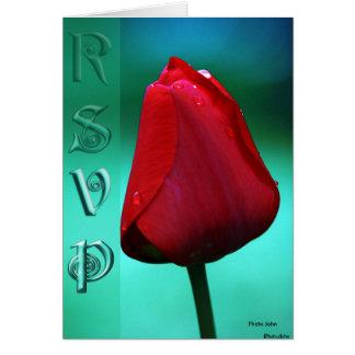 RSVP Rose Card