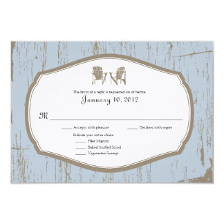 RSVP Rustic Country Wedding Invitation