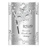 RSVP Silver Quinceanera 15th Birthday Masquerade