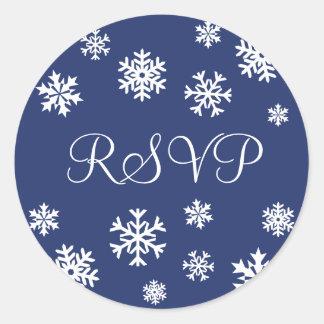 RSVP Snowflakes Envelope Sticker Seal