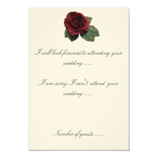 RSVP Spanish Design Roses And Cake 3.5x5 Paper Invitation Card