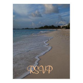 RSVP Special Beach Wedding Postcard