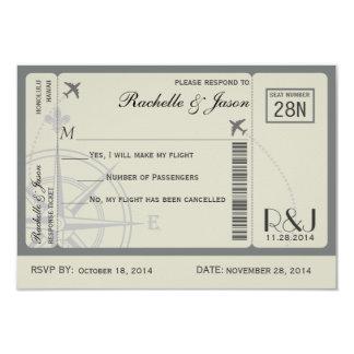 RSVP Ticket Airlines 9 Cm X 13 Cm Invitation Card