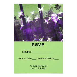 RSVP  Trees and Stars Abstract 9 Cm X 13 Cm Invitation Card