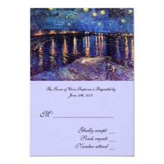 RSVP, wedding acceptance card, Starry Night ... 9 Cm X 13 Cm Invitation Card