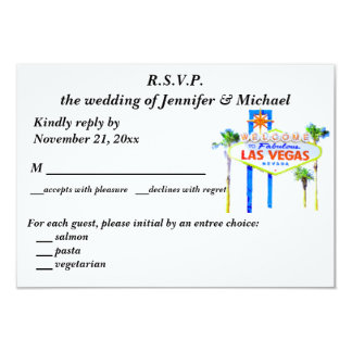 RSVP Wedding and Reception Las Vegas Card