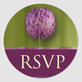 RSVP Wedding Anniversary And Event Envelope Seal Classic Round Sticker