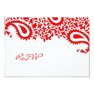 RSVP Wedding Indian Style Card 9 Cm X 13 Cm Invitation Card