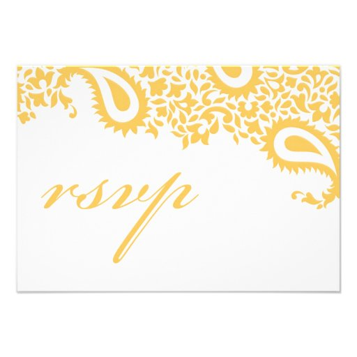 RSVP Wedding Indian Style Card Invites