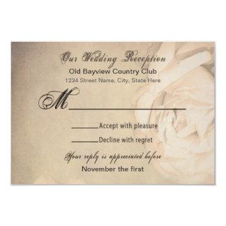 RSVP Wedding Vintage Cards 9 Cm X 13 Cm Invitation Card