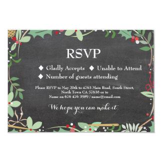 RSVP Wedding Winter Holidays Holly Cards Invites