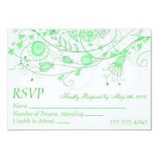 RSVP - Whimsical Minty Green Wedding 1 Invitation