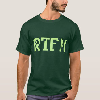 RTFM eighties geek T-Shirt