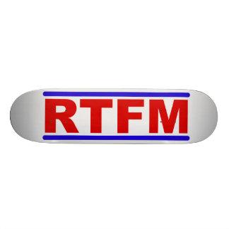 RTFM - Rip that Fraging Manual Custom Skateboard
