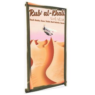Rub' al Khali Saudi Arabia vacation poster. Canvas Print