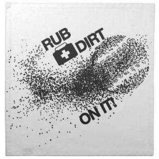 Rub Dirt On It Baseball Shirt Napkin