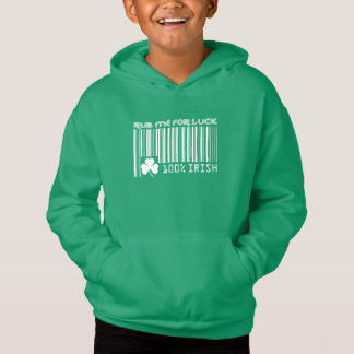 Rub me for Luck. Barcode St. Patrick's Day Hoodie