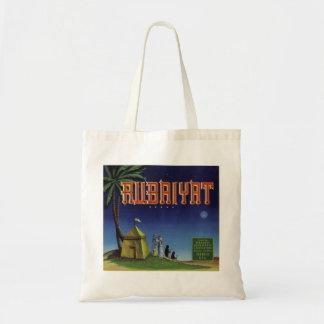 Rubaiyat Fruit Crate Label Canvas Bags
