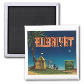 Rubaiyat Vintage Crate label Square Magnet