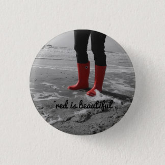 Rubber boots can be mad 3 cm round badge